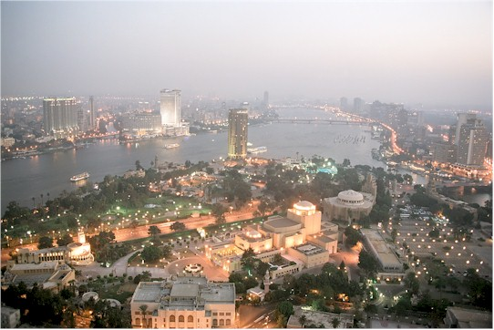 Cairo, evening view from the Tower of Cairo, Egypt