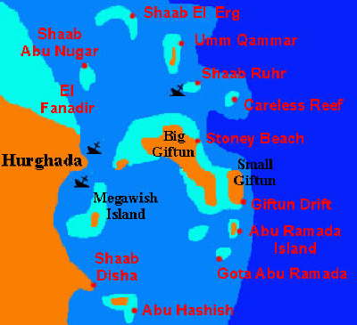 Maps of Egypt - hurghada map